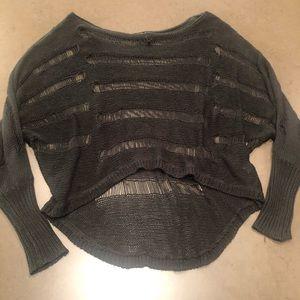 Open knit black sweater